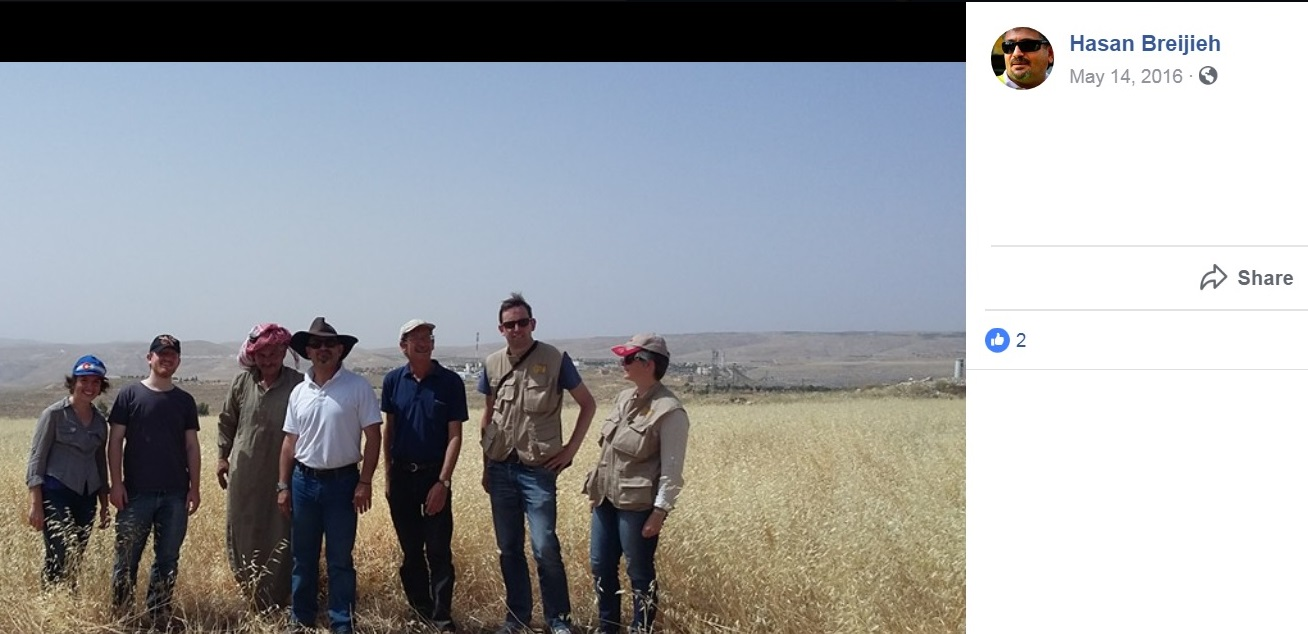 Hasan Breijieh Facebook  Page Photo With EAPPI folks in vest for blog.jpg