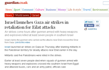 Israel launches Gaza air strikes in retaliation for Eilat attacks  World news  guardian.co.uk.jpg