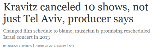 Kravitz canceled 10 shows  The Times of Israel.jpg
