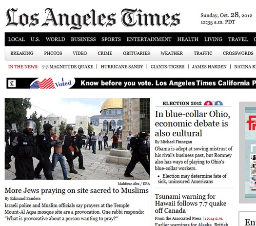Los Angeles Times - oct 28 front pag.jpg