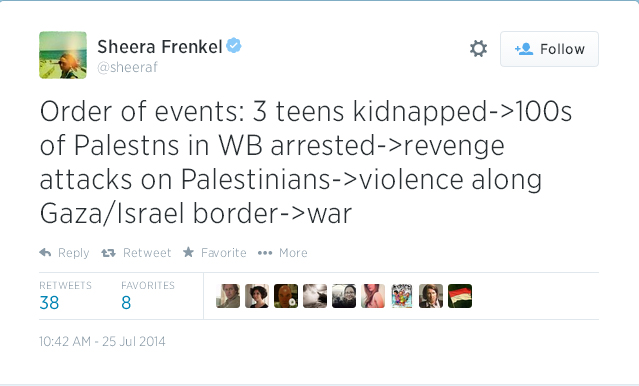 Sheera Frenkel Tweet July 25 2014.jpg