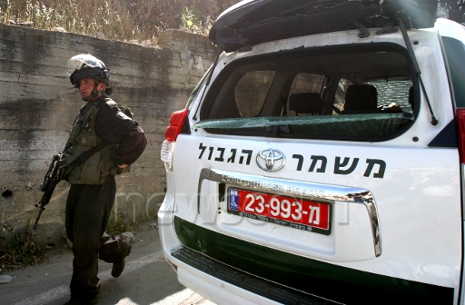 Silwan police car smashed.jpg