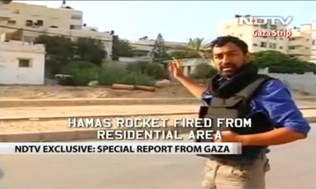 ndtv rocket broadcast gaza.jpg