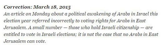 nyt correction east Jerusalem arabs.JPG