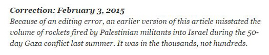 nyt correction thousands rockets.JPG