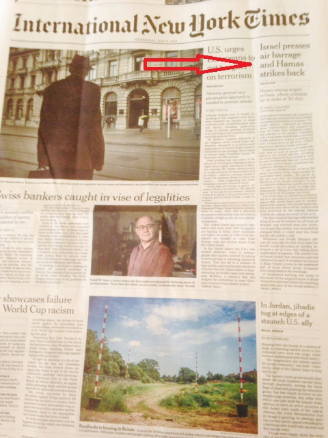 nyt front page Israel presses.jpg