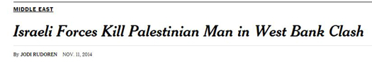 nyt headline Israeli forces kill.JPG