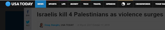 usatoday headline israel kills 4.JPG
